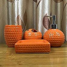 4-teiliges Keramik Badzubehör Set