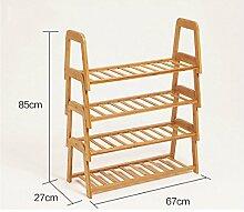 4 Tier-Kombination Schuh-Rack Creative Bamboo Storage Rack Schuh Schrank ( Farbe : B )