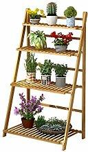4 Tier Ladder Flower Racks Faltbare Holz Blume