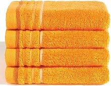 4-tlg. Gästehandtuch-Set 17 Stories Farbe: Orange