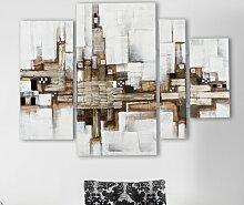 4 tlg. Gemälde Abstrakte Kunst East Urban Home