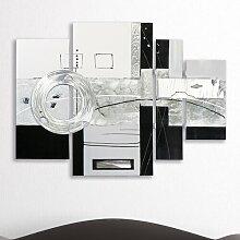 4 tlg. Gemälde Abstrakte Kunst Perspections