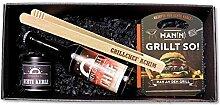 4-TLG. Geschenkbox 'Grillchef + Name'