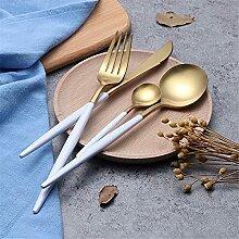 4 tlg. Geschirr 18/10 Edelstahl Besteckset Messer