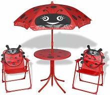 4-tlg. Kinder-Gartentisch-Set Garden Bistro