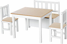 ® 4-tlg. Kindersitzgruppe 1 x Kindertisch 2 x