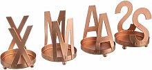 4-tlg. Teelichthalter-Set Xmas aus Metall (Set of