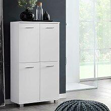 4 türiger Badschrank in Weiß 60 cm breit