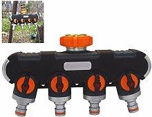 4-Wege-Verteiler, Gartenschlauch Wasserhahn