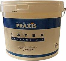 4 x 2,5 L Praxis Latex matt Wandfarbe weiß 10 L