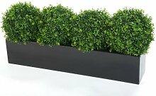 4 X 30 cm, Künstliche Buchsbaumkugel. in Schwarz,