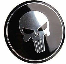 4 x 56,5 mm Auto-Emblem-Aufkleber, Radnabenkappen,