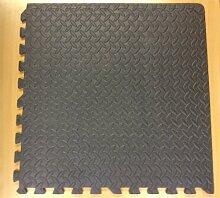 4x anthrazit schwarz Interlocking Puzzle Boden EVA-Schaum Mats (1,4qm)