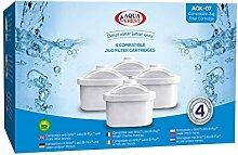 4 x AquaCrest AQK-07 Wasserkrugfilter Ersatz für