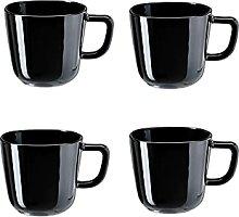 4 x BACKIG Tasse, schwarz, 37 cl