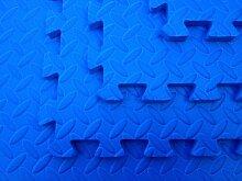 4 x blau EVA Bodenfliesen, aus Schaumstoff, Ineinandergreifend-Matten (1,4 m)