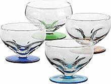 4 X Eisschale Dessertschale Eisbecher Glas Liguria