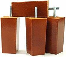 4x Ersatz Möbel Beine Massivholz–110mm