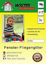 4 x Fliegengitter Fliegenschutz Insektenschutz Mückenschutz schwarz weiss Neu (150x300, Weiß)