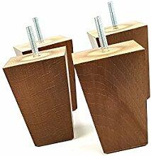 4x Fuß Ersatz Möbel Beinen 100mm Höhe aus