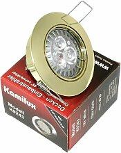 4 x High Power LED Einbauleuchte Strahler Jenny Farbe gold 230V 5 Watt in Warmweiß