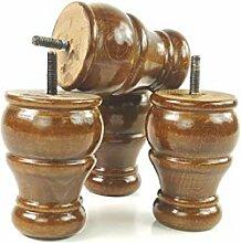 4x Holz Kugelfüße Ersatz Beine für Sofas,