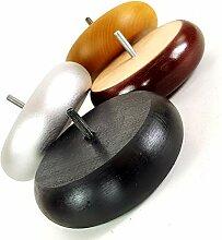 4 x Holzfüße für Möbelbeine (8 mm) in
