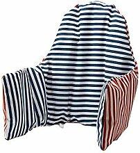 4 X Ikea Antilop & Cover Hochstuhl mit Kissen wendbar, in zwei Farben (rot oder blau Modell: PYTTIG)