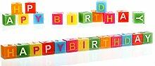 4 x Kerze Happy Birthday 13 tlg. Geburtstag