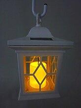 4 x LED Solarleuchte Gartenleuchte Aussenleuchte Laterne Romantica Farbe weiß mit Kerzen-Flackerlicht Solarleuchte Dekolampe