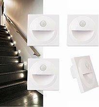4 x LED Treppenlicht Einbauleuchte Einbaustrahler