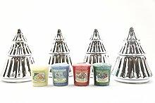 4x seltene Offizielles Yankee Candle Keramik
