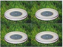 4 x Solar-Bodenleuchte LED-Bodenstrahler schwarz