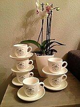 4 x Vintage Landhaus Kaffeetasse Tasse mit