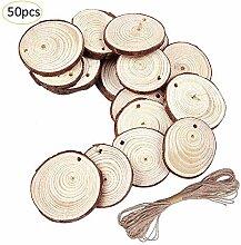 40/50 Stück Runde Holzkugel mit Löchern