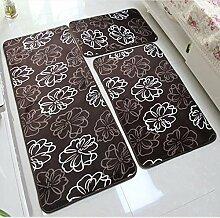 40 * 60 + 50 * 80 + 40 * 120cm Dreiteilige Küche Europäische Stil Badezimmer Badezimmer Anti-Rutsch-Pad Saugnapf Matratze Pad ( Farbe : 5# )