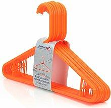 40 Farbenfrohe, Orangene Kunststoff Kleiderbügel mit Hosensteg - 42cm - Hangerworld