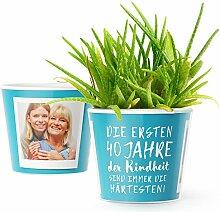 40.Geburtstag Geschenk - Blumentopf (ø16cm) |