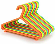 40 Kinder Kunststoff-Kleiderbügel-Set, bunt, 29