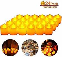 40 LED Kerzen, Sylanda LED Teelichter Kerzen