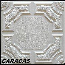 40 m2 Deckenplatten Styroporplatten Stuck Decke Dekor Platten 50x50cm, CARACAS