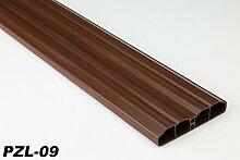 40 Meter PVC Zaunlatten Kunststoff Profile Bretter Gartenzaun 80x16mm, PZL-09