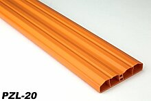 40 Meter PVC Zaunlatten Kunststoff Profile Bretter Gartenzaun 80x16mm, PZL-20