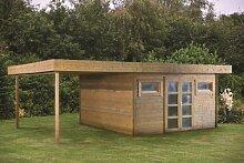 40 mm Gartenhaus Gigamodern ca. 690x420 cm (unbehandelt)