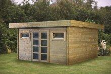 40 mm Gartenhaus Supermodern ca. 420x420 cm (unbehandelt)