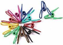 40pcs lang Colorful Multi Wäscheklammern Socken Unterwäsche Kleiderbügel Metall Draht mit Kunststoff Beschichtung für Tasche Clips Papier Clip fadensiegelung Klemmen
