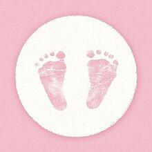 40 Servietten Rosa Baby Mädchen Shower Füße