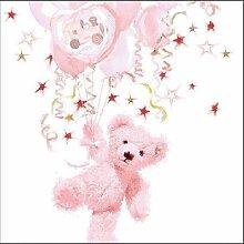 40 Servietten Rosa Baby Mädchen Shower Teddy
