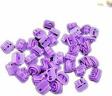 40 Stück Alphabet Zahlen Buchstaben DIY Figuren
