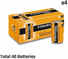 40 x D Duracell Industrial MN1300 LR20 Mono